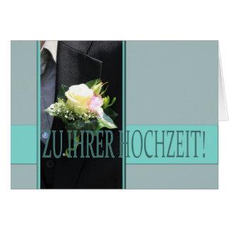 Félicitations allemandes de mariage carte de vœux