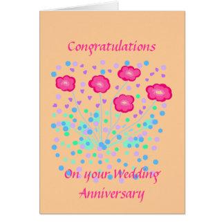 Félicitations d'anniversaire de mariage carte de vœux