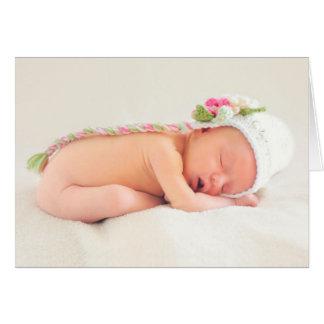 Félicitations de bébé carte de vœux
