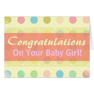 Félicitations de bébé de point de polka ! carte de vœux