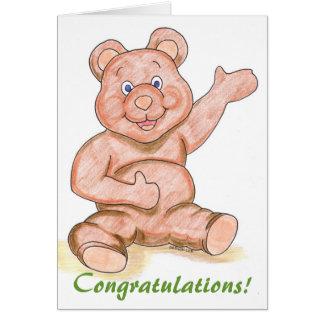 Félicitations de bébé ! ou toutes félicitations ! carte de vœux