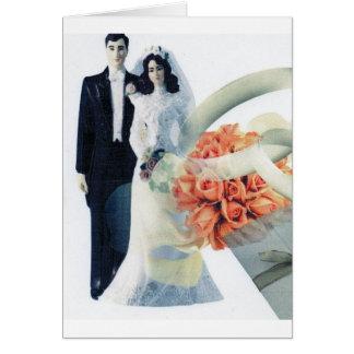 Félicitations de Carte-Mariage de salutation Carte De Vœux