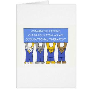 Félicitations de diplômé d'ergothérapiste carte de vœux