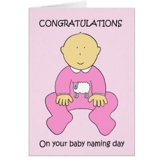 Félicitations de jour de nomination de bébé carte de vœux