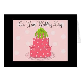 Félicitations de jour du mariage carte de vœux