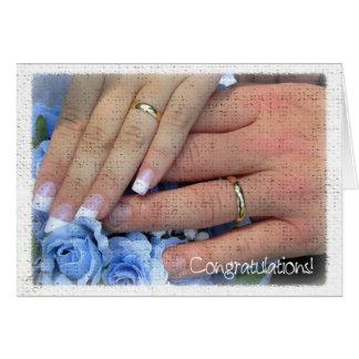Félicitations de mariage carte