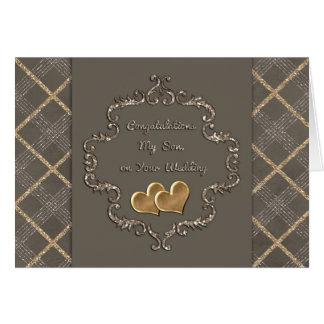 Félicitations de mariage des coeurs Maman-D'or Carte De Vœux