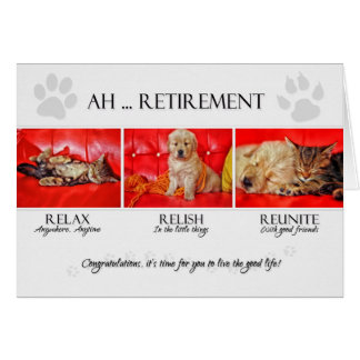 Félicitations de retraite d'amusement pour l'amant carte de vœux