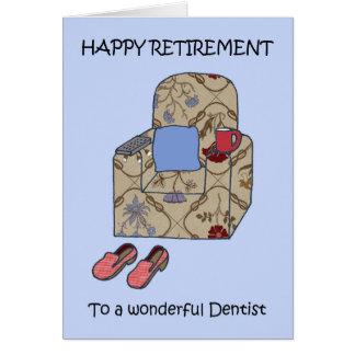 Félicitations de retraite de dentiste carte de vœux