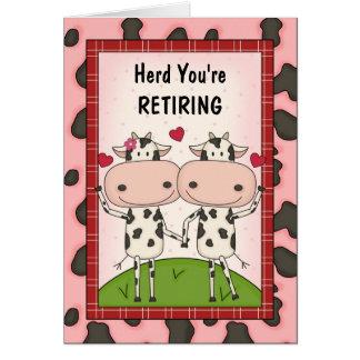 Félicitations de retraite - vaches carte de vœux