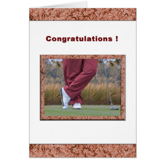 Félicitations dessus Trou-dans-Un pour le golfeur Carte De Vœux