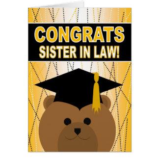 Félicitations d'obtention du diplôme pour la carte de vœux