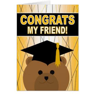 Félicitations d'obtention du diplôme pour l'ami carte de vœux