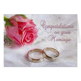 Félicitations épousant le mariage carte de vœux