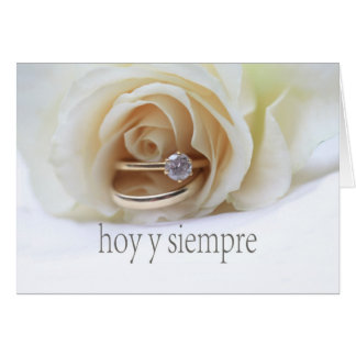 Félicitations espagnoles de mariage carte de vœux