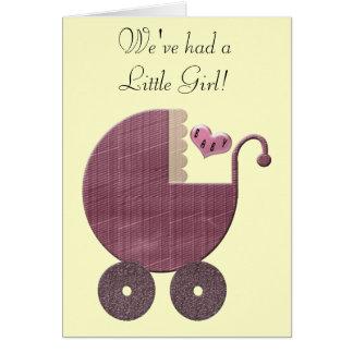 Félicitations et nouvelles cartes de voeux de bébé