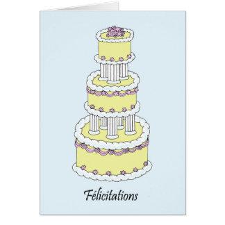 Félicitations françaises de mariage de carte de vœux