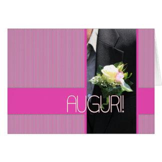 félicitations italiennes de mariage carte de vœux