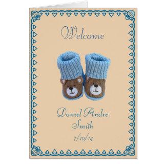 Félicitations ! naissance de bébé carte de vœux