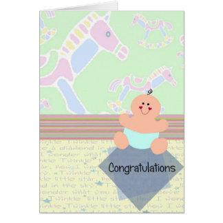 Félicitations, nouveau bébé carte de vœux