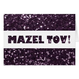 Félicitations pourpres de Mazel Tov de Carte