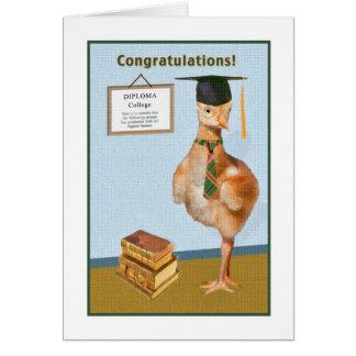 Félicitations sur la carte d'obtention du diplôme
