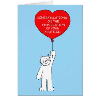 Félicitations sur la conclusion de votre adoption carte de vœux