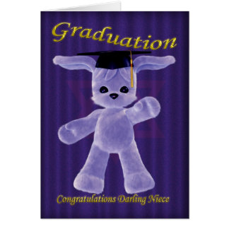 félicitations sur la nièce d'obtention du diplôme carte de vœux