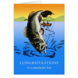 Félicitations sur la retraite pour le patron, carte de vœux