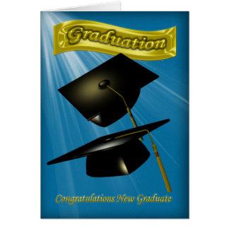 félicitations sur l'obtention du diplôme que vous carte de vœux