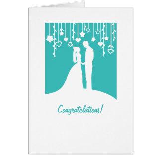 Félicitations sur obtenir la carte de mariage