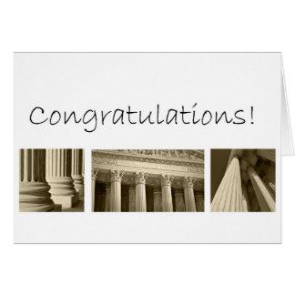 Félicitations sur recevoir un diplôme de l'école d carte de vœux