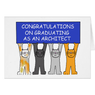 Félicitations sur recevoir un diplôme en tant carte de vœux