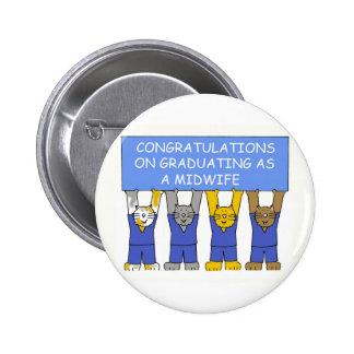 Félicitations sur recevoir un diplôme en tant que badge avec épingle
