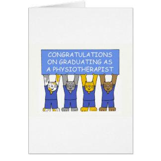 Félicitations sur recevoir un diplôme en tant que carte de vœux