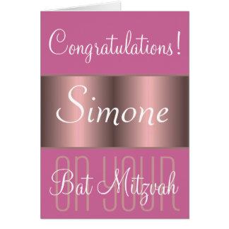 Félicitations sur votre bat mitzvah carte