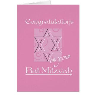 Félicitations sur votre bat mitzvah ! - Rose Carte