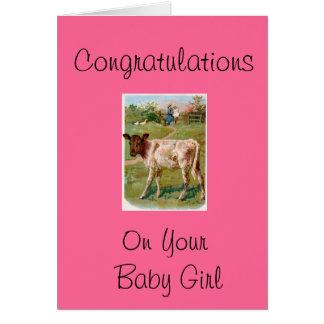 Félicitations sur votre bébé carte de vœux