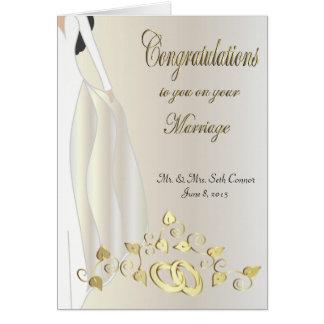 Félicitations sur votre carte de mariage
