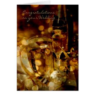 Félicitations sur votre mariage de mariage carte de vœux