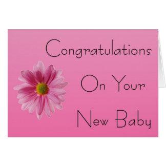 Félicitations sur votre nouvelle carte de bébé