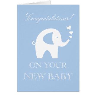 Félicitations sur votre nouvelle coutume de bébé carte de vœux