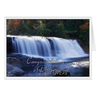Félicitations sur votre PIC de cascade de retraite Carte De Vœux