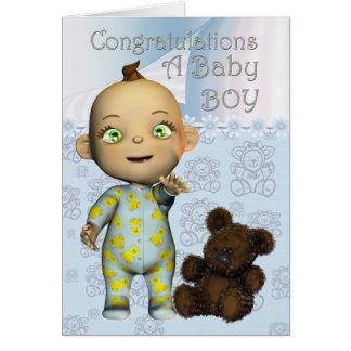 Félicitations une carte de bébé avec la bande dess