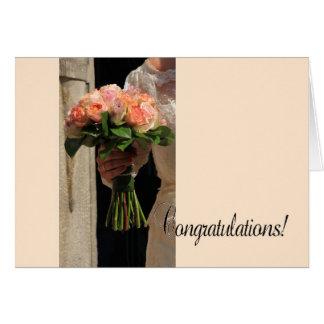 Félicitations votre jour du mariage ! carte de vœux