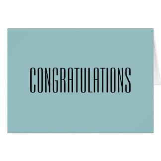 Félicitations - vous le méritez carte de voeux