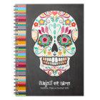 Feliz Muertos - carnet de coutume de crâne de sucr
