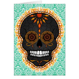 Feliz Muertos - carte faite sur commande de crâne
