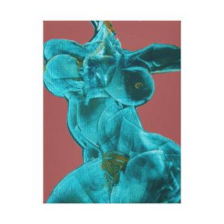 Femelle de toile de beaux-arts dans le mouvement toiles