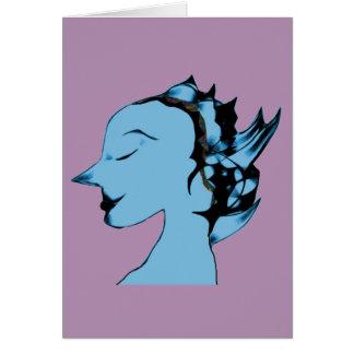 Femelle étrangère bleue carte